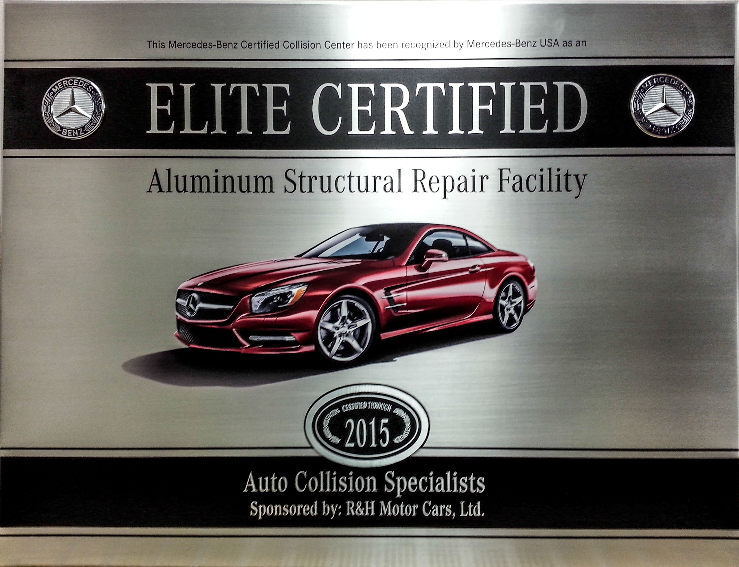 Aluminum body vehicles and what your body shop needs to know for Certified mercedes benz service