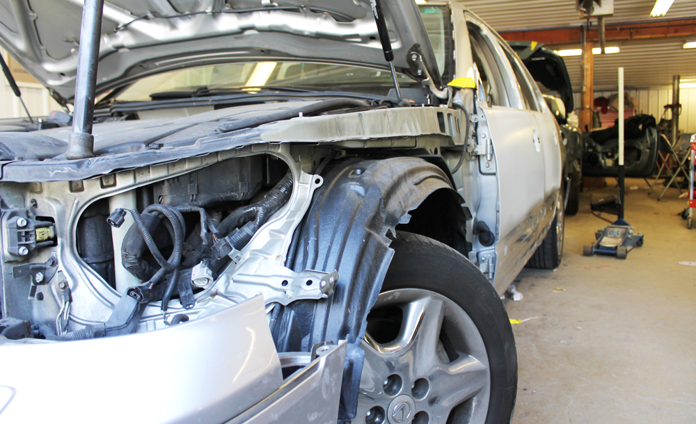 Damaged Lexus, Lexus Repair - Auto Collision Specialists