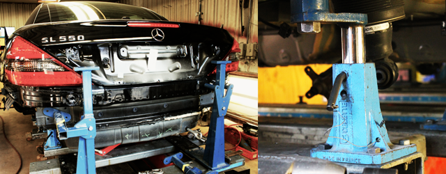 Celette | Mercedes Body Shop | Baltimore Maryland | Unibody Repairs